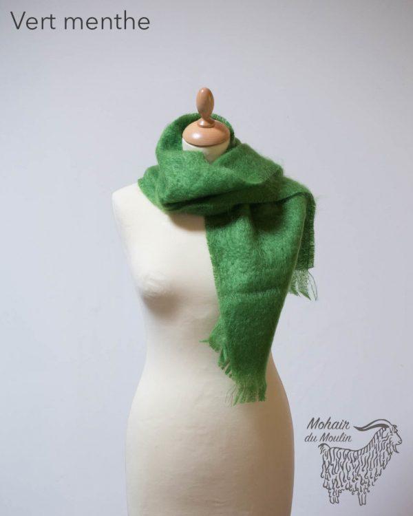 Petite écharpe mohair tissée