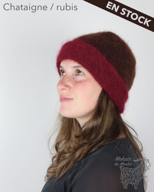 Bonnet roulotté mohair