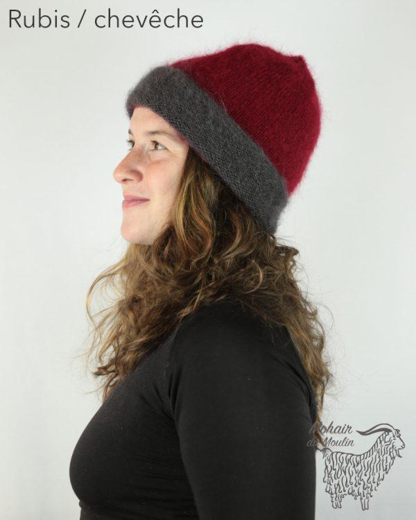 Bonnet roulotté